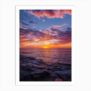 Sunset Cliffs Night V Art Print