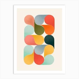 Bright Shapes Art Print