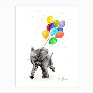 Elephant Freedom Art Print