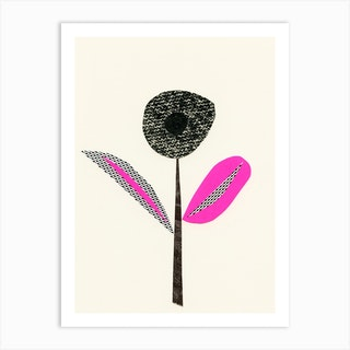 Abstract Flower I Art Print
