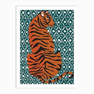 Patterned Tiger Art Print