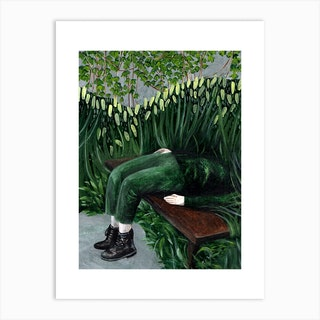 Buried In Green Beauty Art Print