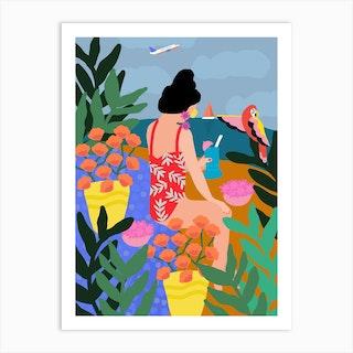 I Miss The Beach Art Print