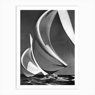 Spinakers On Racing Sailboats Art Print