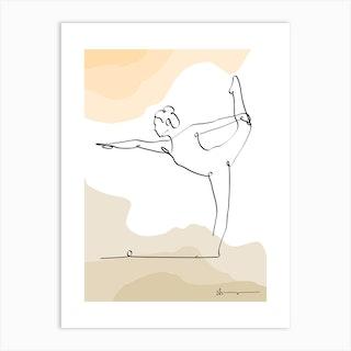 Lord Of Dance Pose Natarajasana Art Print