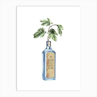Gin Makes Everything Ok Art Print
