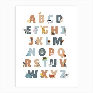 Animal Alphabet Art Print