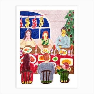 Christmas Dinner Art Print