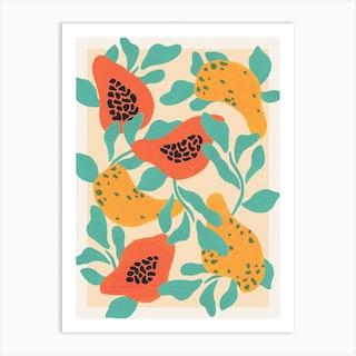 Papaya Party Art Print