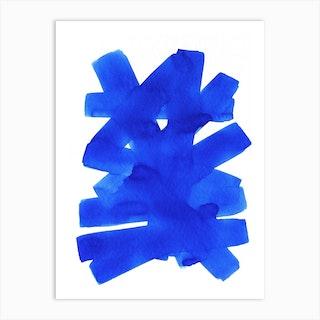 Superwatercolor Blue Art Print