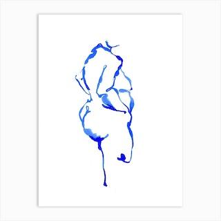 Blue Woman 12 Art Print