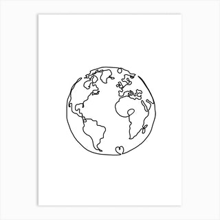 The World In Love Art Print