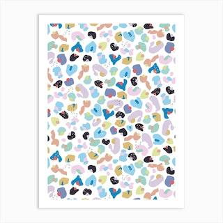 Baby Leopard Pattern Art Print