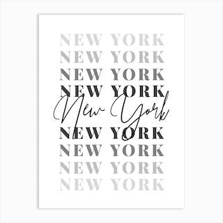 New York Fade Font 2 Art Print