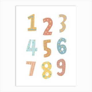 123 Numbers Nursery Art Print