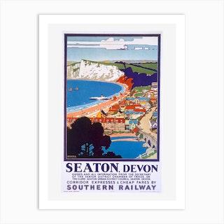 Seaton Devon Southern Railway Art Print