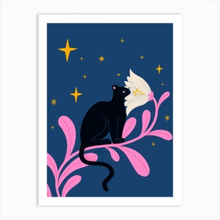 Night Panther Art Print