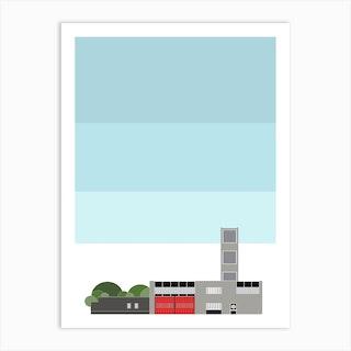 Modernist Fire Station Art Print