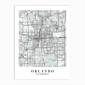 Orlando Florida Street Map Minimal Color Art Print