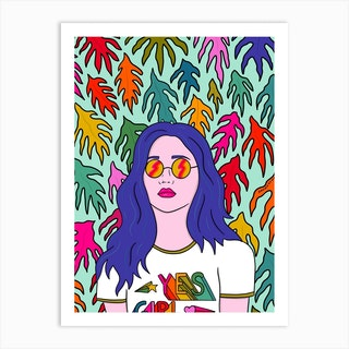 Yes Girl Art Print