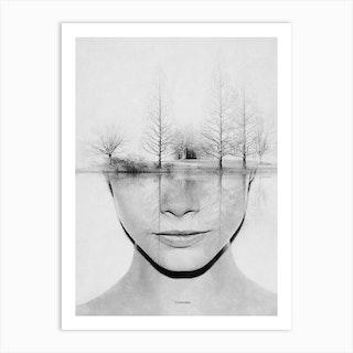 White Dream Art Print