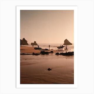 Surf Boards At The Coast Art Print