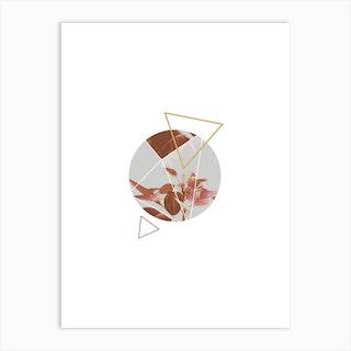 Pastel Geomtery Abstract Art Print
