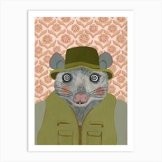 Fantastic Mr Fox Possum Art Print