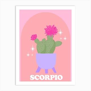 Botanical Star Sign Scorpio Art Print