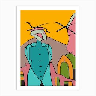 Alien Fashion Art Print