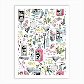 Gin Oclock Art Print