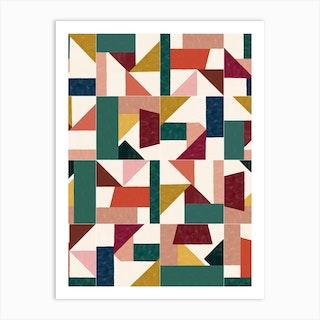 Tangram Wall Tiles 01 Art Print