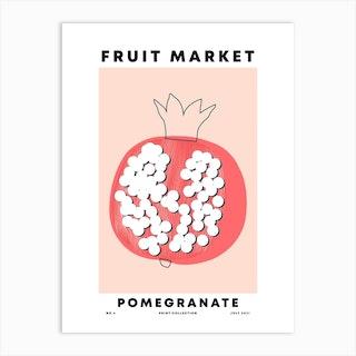 Pomegranate Fruit Market Art Print
