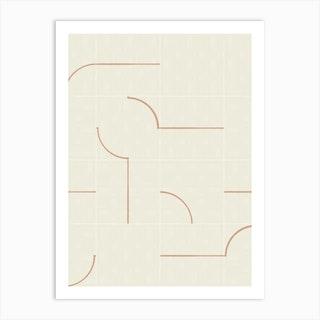 Minimal Wall Tiles 03 Art Print