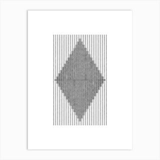 Modern Boho Tribal Diamond Art Print
