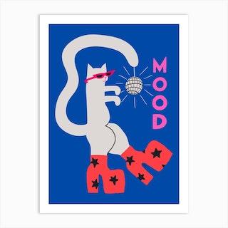 Mood Cat Art Print