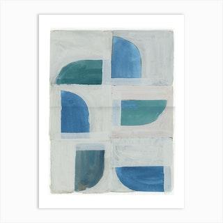 Blue Sparse Five Art Print
