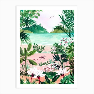 Seaside Meadow Art Print