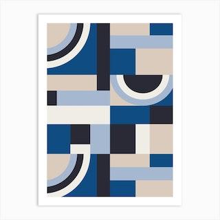 Classic Blue Blocks Art Print
