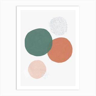 Abstract Soft Circles Part 1 Art Print