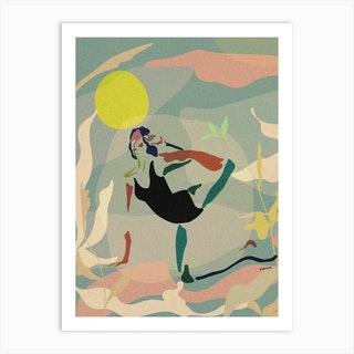 Morning Yoga Art Print