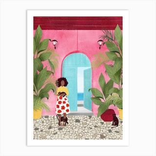 Cartagena Life Art Print