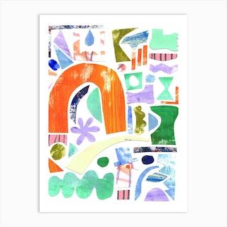 Spring Collage Art Print