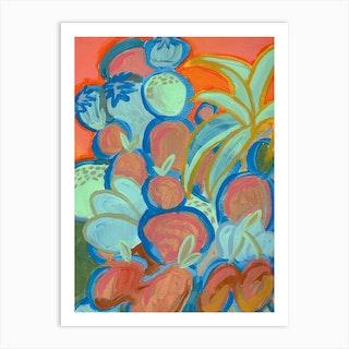 Fruit Tower Art Print
