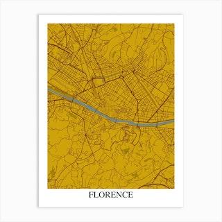 Florence Yellow Blue Art Print