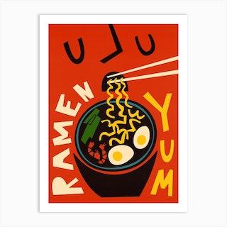 Yum Ramen Art Print