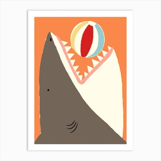 Sharkie Art Print