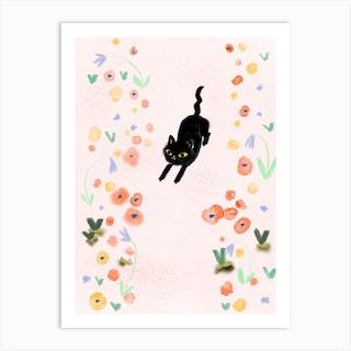Garden Path Yoga Art Print