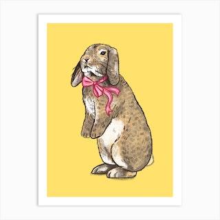 Fancy Bunny Art Print
