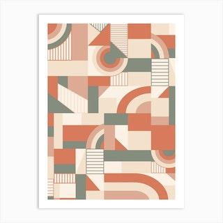 Earthy Blocks Art Print